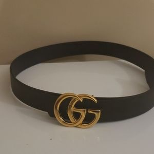 Accessories - Gold GG black belt